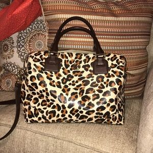 💯 Authentic Leopard Robinson Satchel Tory Burch